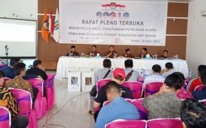 KPU Waykanan Gelar Rapat Pleno Penghitungan Suara Pemilu 2019