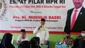 Sosialisasi Empat Pilar, Mukhlis Soroti Pendidikan Di Jatiagung