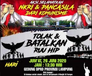 Jumat, FPI Lampung Gelar Aksi Tolak RUU HIP