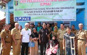 Dinsos Lampung Beri Pelayanan Disabilitas Di Pesibar