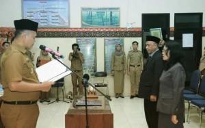 Dua Pejabat Administrator Catatan Sipil Pringsewu Dilantik