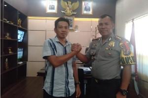 Pengurus PWI Kota Metro Silaturahmi Dengan Kapolres