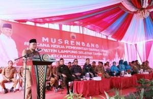 Dana Pembangunan Kecamatan Katibung Rp47,7 Miliar