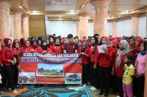Komunitas Senam Kreasi Deklarasi Dukung Zaiful