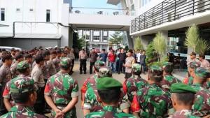 Pasukan Gabungan Jaga Penghitungan Suara Di Pringsewu