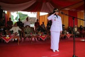 Puncak Peringatan HUT Ke 22 Kabupaten Tanggamus, Upacara Bendera Hingga Prosesi <i>Mengan Balak</i>