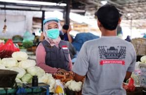 Cegah Covid-19, Pedagang Diimbau Tetap Gunakan Masker