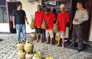 Polisi Tangkap Tiga Pencuri Tabung Gas