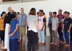 Sharing Time Megalithic Melenium Art, Umar Ahmad Ikut Berlatih Seni Teater Jepang