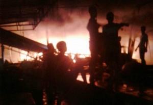 80 Persen Pasar Natar Terbakar