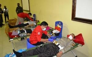 Hari Bhayangkara, Polres Tulangbawang Gelar Donor Darah